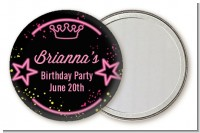 Neon Pink Glow In The Dark - Personalized Birthday Party Pocket Mirror Favors