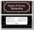 Neon Pink Glow In The Dark - Personalized Birthday Party Candy Bar Wrappers thumbnail