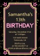 Neon Pink Glow In The Dark - Birthday Party Invitations thumbnail