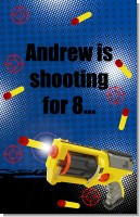 Nerf Gun - Personalized Birthday Party Wall Art