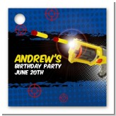 Nerf Gun - Personalized Birthday Party Card Stock Favor Tags