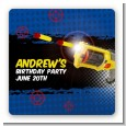Nerf Gun - Square Personalized Birthday Party Sticker Labels thumbnail