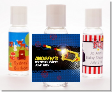 Nerf Gun - Personalized Birthday Party Hand Sanitizers Favors