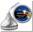 Nerf Gun - Hershey Kiss Birthday Party Sticker Labels thumbnail