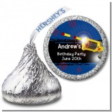 Nerf Gun - Hershey Kiss Birthday Party Sticker Labels