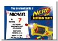 Nerf Gun - Birthday Party Petite Invitations thumbnail