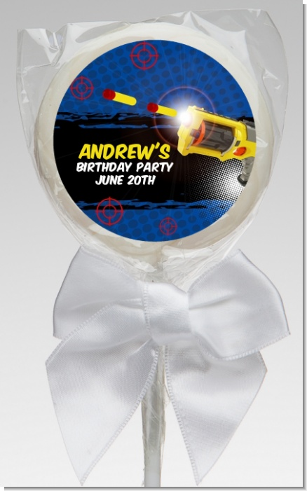 Nerf Gun - Personalized Birthday Party Lollipop Favors