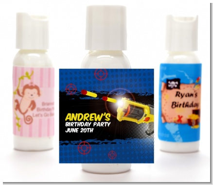 Nerf Gun - Personalized Birthday Party Lotion Favors