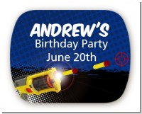 Nerf Gun - Personalized Birthday Party Rounded Corner Stickers