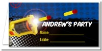 Nerf Gun - Personalized Birthday Party Place Cards