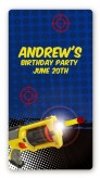 Nerf Gun - Custom Rectangle Birthday Party Sticker/Labels