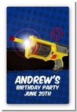 Nerf Gun - Custom Large Rectangle Birthday Party Sticker/Labels