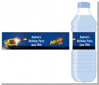 Nerf Gun - Personalized Birthday Party Water Bottle Labels