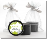 New Jersey Skyline - Bridal Shower Black Candle Tin Favors