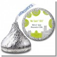 New Jersey Skyline - Hershey Kiss Bridal Shower Sticker Labels thumbnail