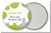 New Jersey Skyline - Personalized Bridal Shower Pocket Mirror Favors