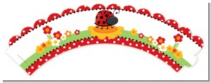 Modern Ladybug Red - Baby Shower Cupcake Wrappers