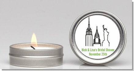 New York City - Bridal Shower Candle Favors
