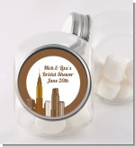 New York City Skyline - Personalized Bridal Shower Candy Jar