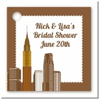 New York City Skyline - Personalized Bridal Shower Card Stock Favor Tags