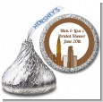 New York City Skyline - Hershey Kiss Bridal Shower Sticker Labels thumbnail