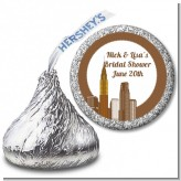 New York City Skyline - Hershey Kiss Bridal Shower Sticker Labels