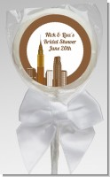 New York City Skyline - Personalized Bridal Shower Lollipop Favors