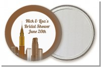New York City Skyline - Personalized Bridal Shower Pocket Mirror Favors