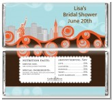 New York Skyline - Personalized Bridal Shower Candy Bar Wrappers