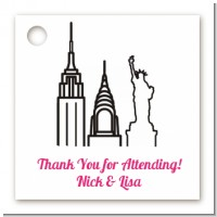 New York Skyline - Personalized Bridal | Wedding Card Stock Favor Tags