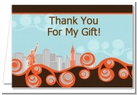 New York Skyline - Bridal Shower Thank You Cards