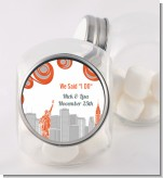 New York Skyline - Personalized Bridal Shower Candy Jar