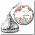 New York Skyline - Hershey Kiss Bridal Shower Sticker Labels thumbnail