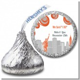 New York Skyline - Hershey Kiss Bridal Shower Sticker Labels