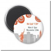 New York Skyline - Personalized Bridal Shower Magnet Favors