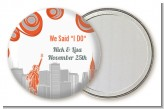 New York Skyline - Personalized Bridal Shower Pocket Mirror Favors