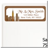 New York City Skyline - Bridal Shower Return Address Labels