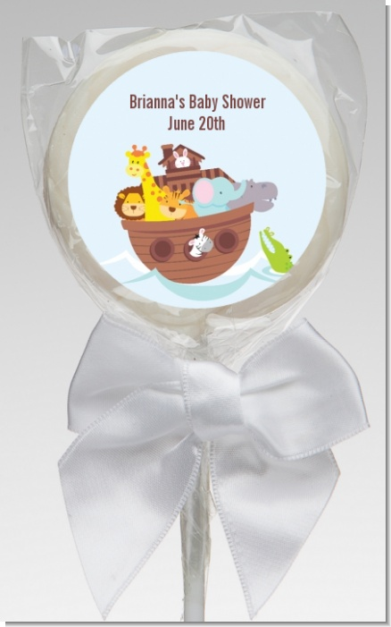 Noah's Ark - Personalized Baby Shower Lollipop Favors
