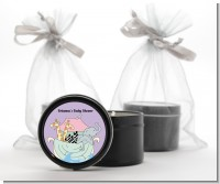 Noah's Ark Twins - Baby Shower Black Candle Tin Favors