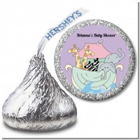 Noah's Ark Twins - Hershey Kiss Baby Shower Sticker Labels