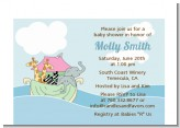 Noah's Ark Twins - Baby Shower Petite Invitations