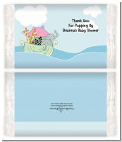 Noah's Ark Twins - Personalized Popcorn Wrapper Baby Shower Favors