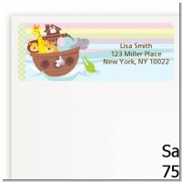 Noah's Ark - Baby Shower Return Address Labels