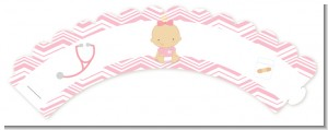Little Girl Nurse On The Way - Baby Shower Cupcake Wrappers