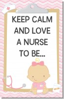 Little Girl Nurse On The Way - Personalized Baby Shower Nursery Wall Art