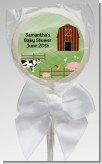 Nursery Rhyme - Old McDonald - Personalized Baby Shower Lollipop Favors