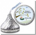 Nursery Rhyme - Rock a Bye Baby - Hershey Kiss Baby Shower Sticker Labels thumbnail