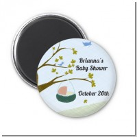 Nursery Rhyme - Rock a Bye Baby - Personalized Baby Shower Magnet Favors
