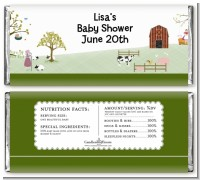 Nursery Rhyme - Personalized Baby Shower Candy Bar Wrappers