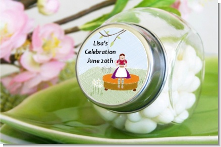 Nursery Rhyme - Lil Miss Muffett - Personalized Baby Shower Candy Jar